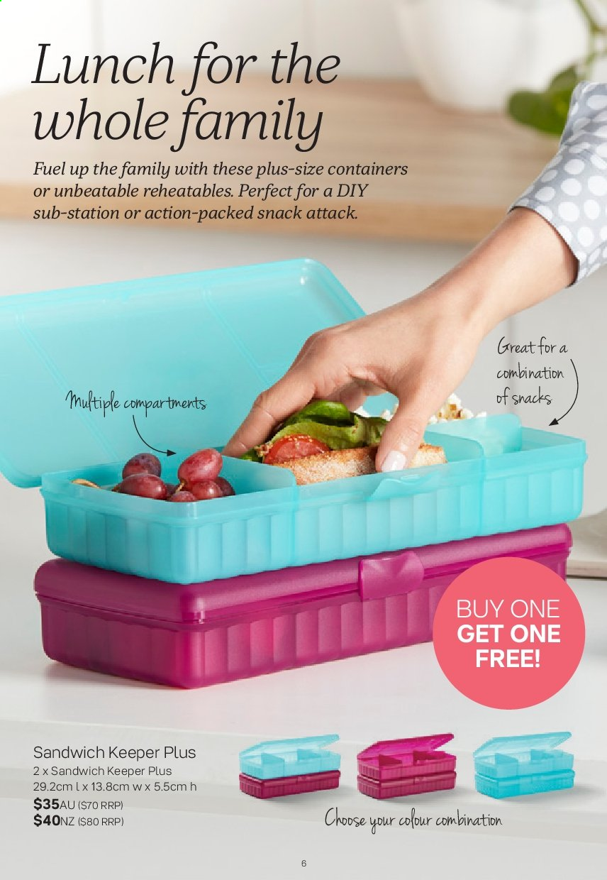 Tupperware catalogue  - 2.9.2019 - 29.9.2019. Page 6.