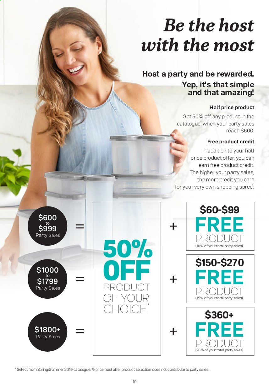 Tupperware catalogue  - 2.9.2019 - 29.9.2019. Page 10.