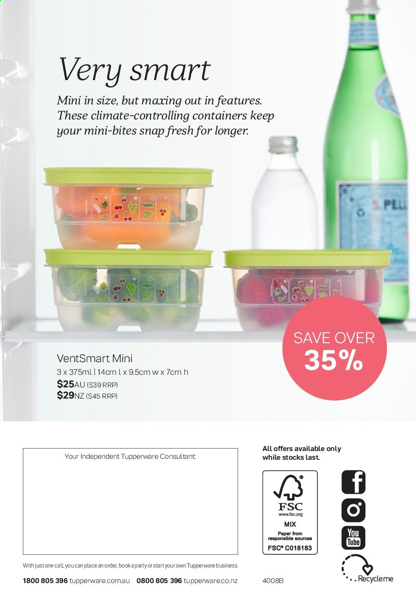 Tupperware catalogue  - 2.9.2019 - 29.9.2019. Page 16.