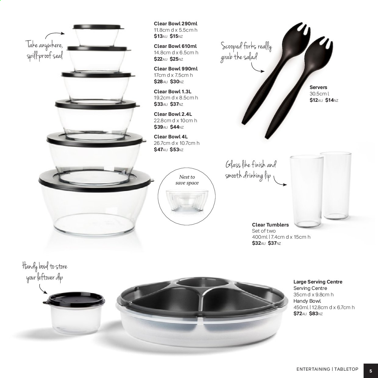 Tupperware catalogue . Page 5.