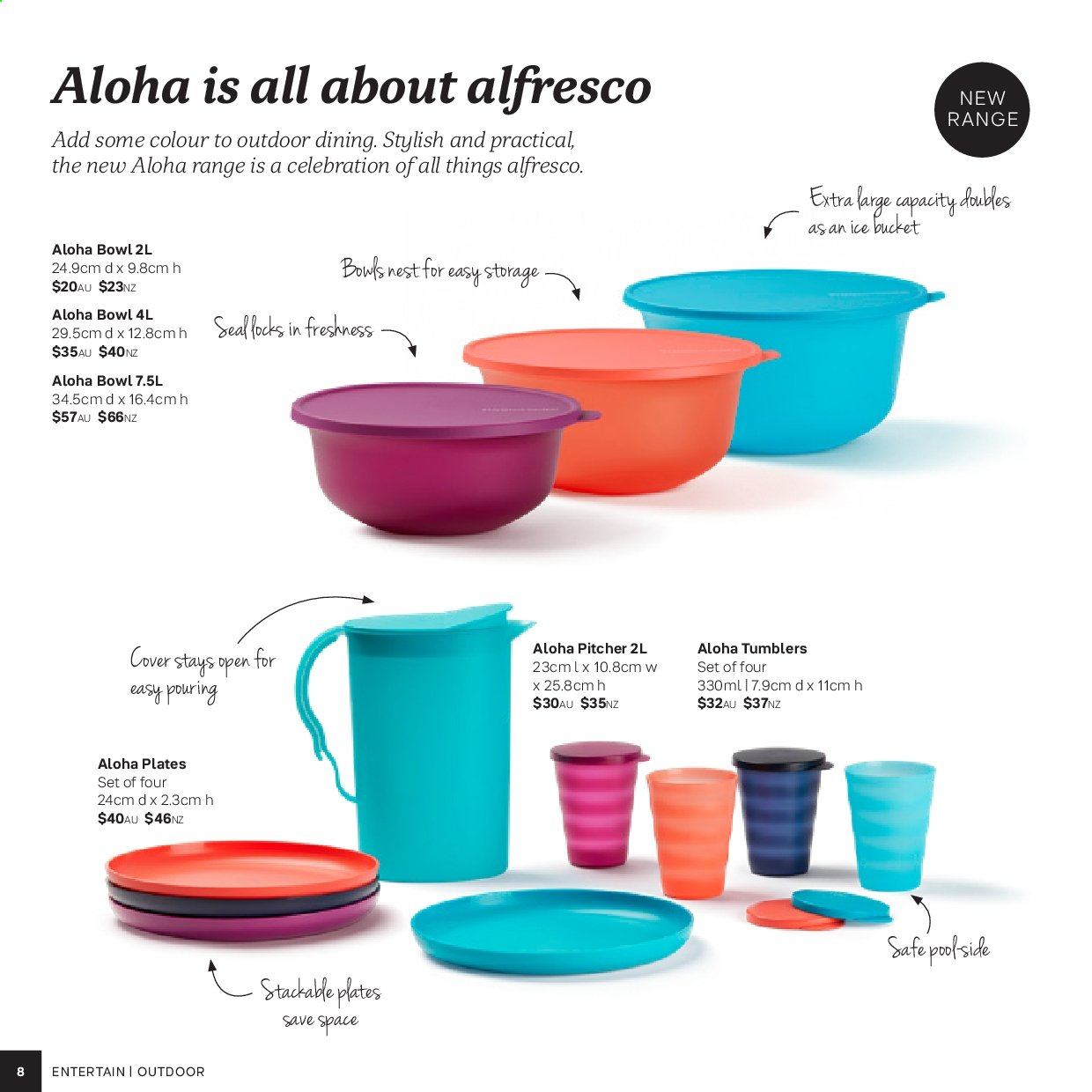 Tupperware catalogue . Page 8.