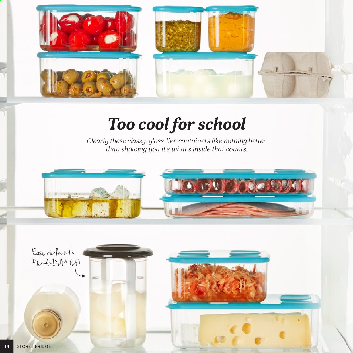 Tupperware catalogue . Page 14.