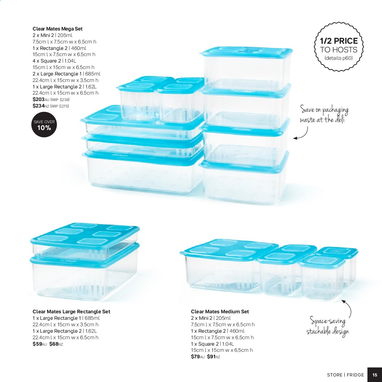 Tupperware catalogue . Page 15.