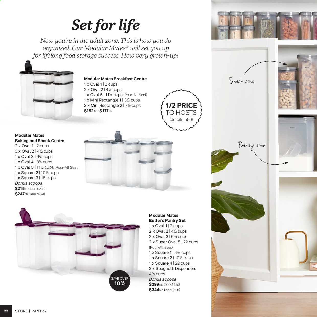 Tupperware catalogue . Page 22.