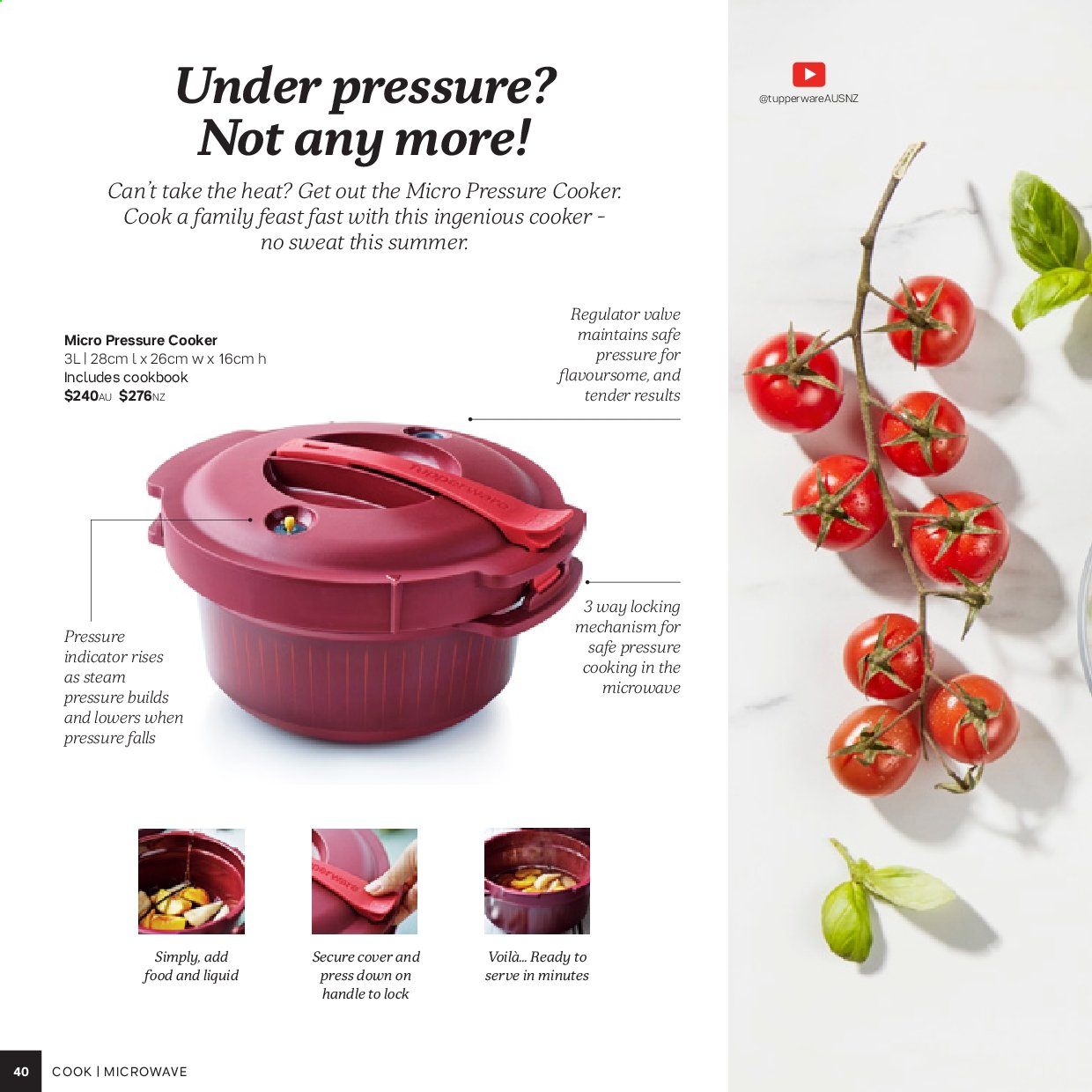 Tupperware catalogue . Page 40.
