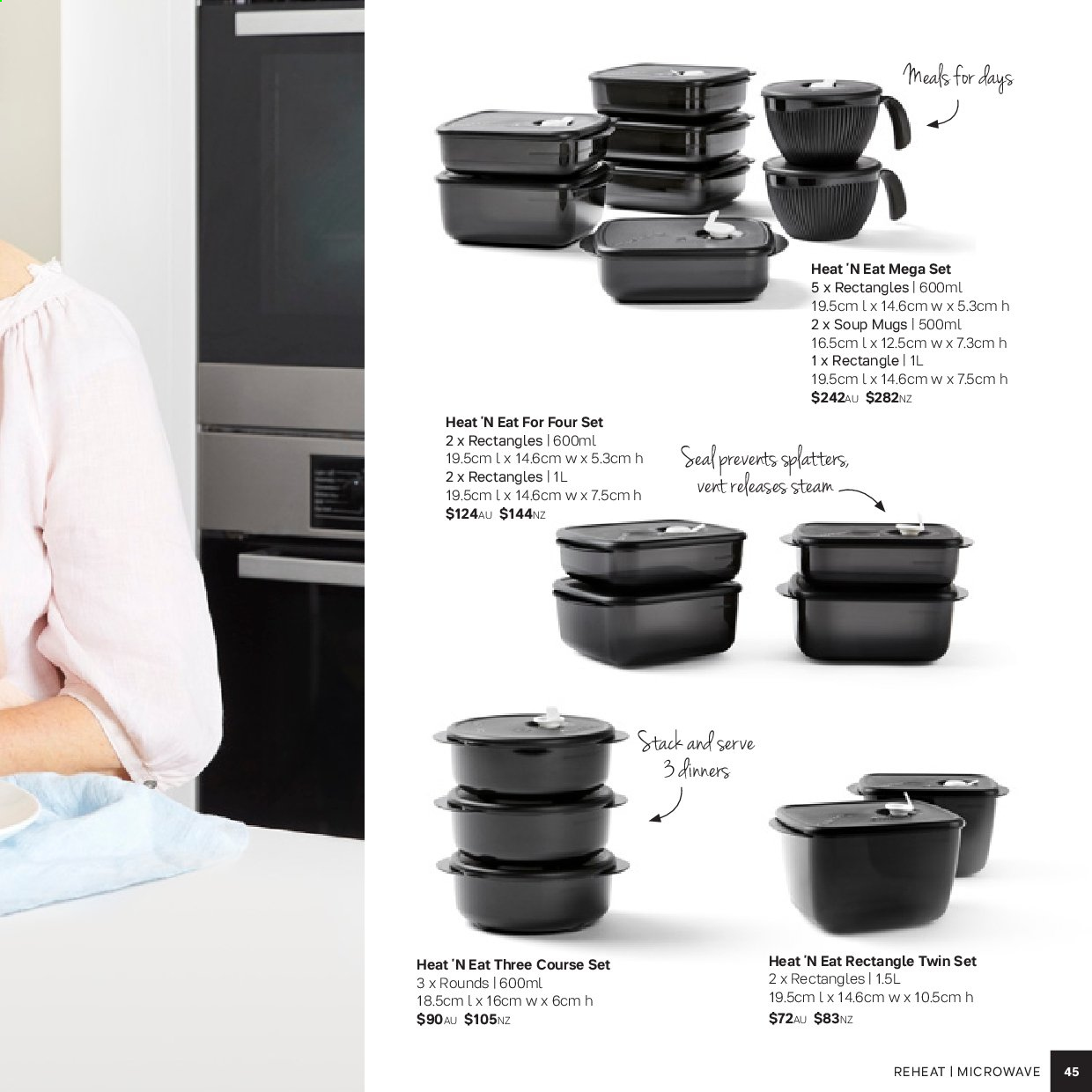Tupperware catalogue . Page 45.