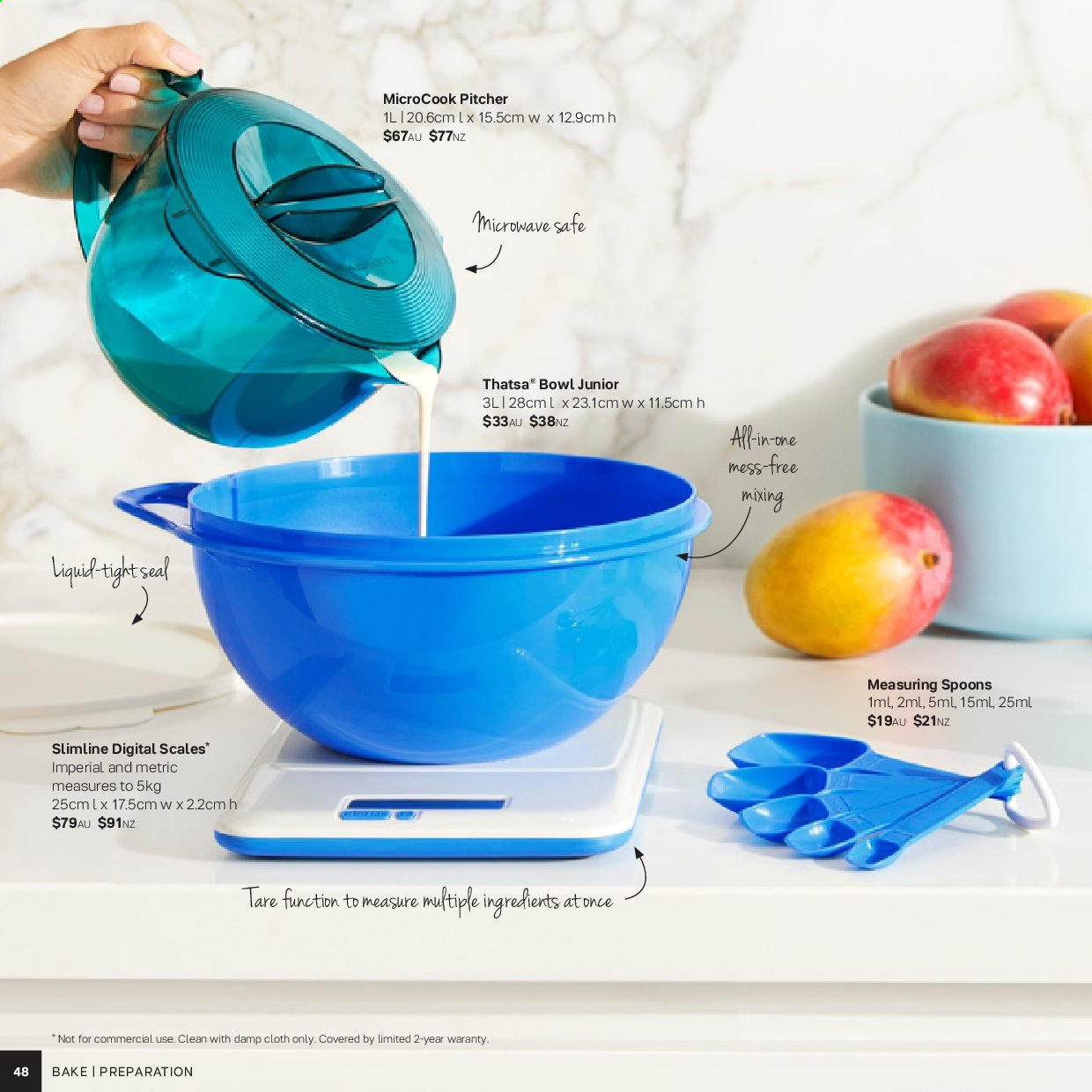Tupperware catalogue . Page 48.
