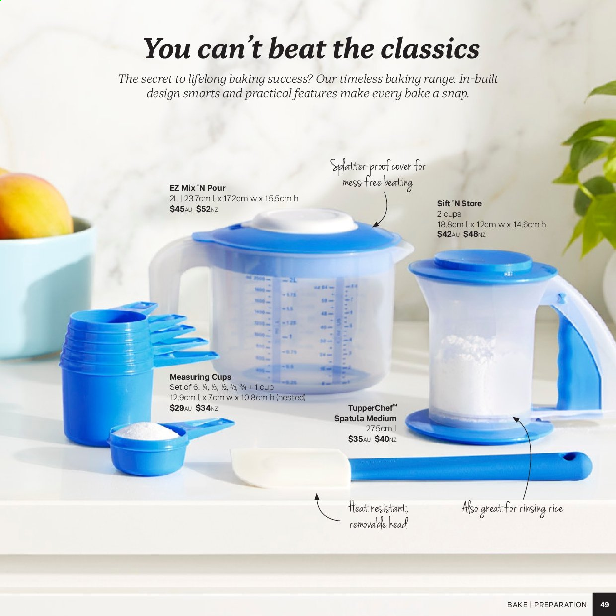 Tupperware catalogue . Page 49.