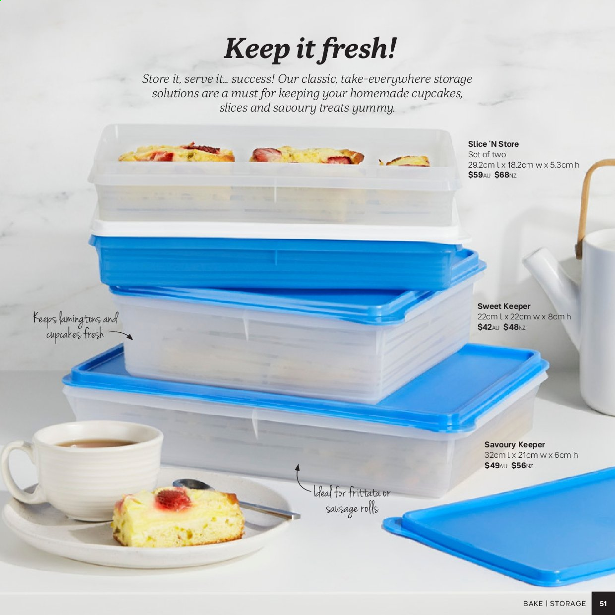 Tupperware catalogue . Page 51.