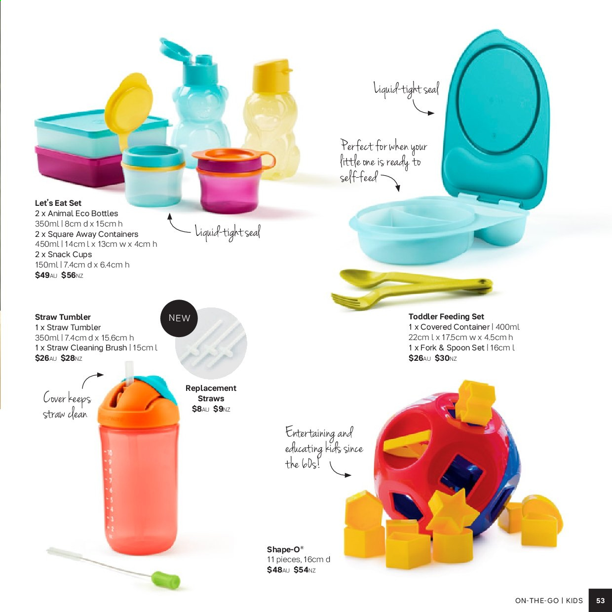 Tupperware catalogue . Page 53.