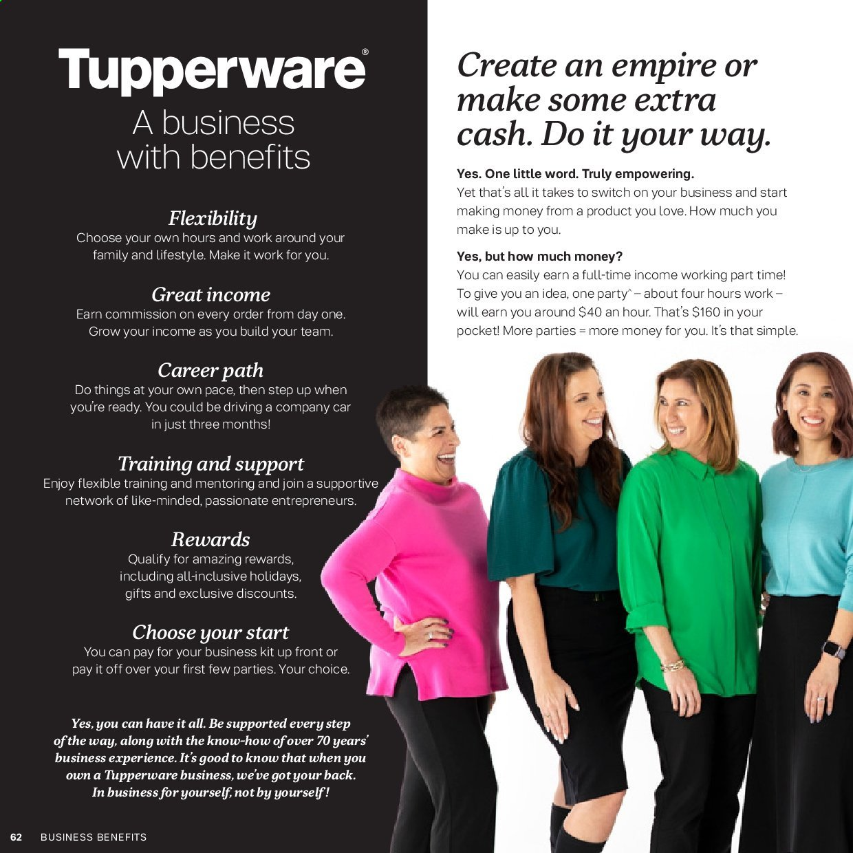 Tupperware catalogue . Page 62.