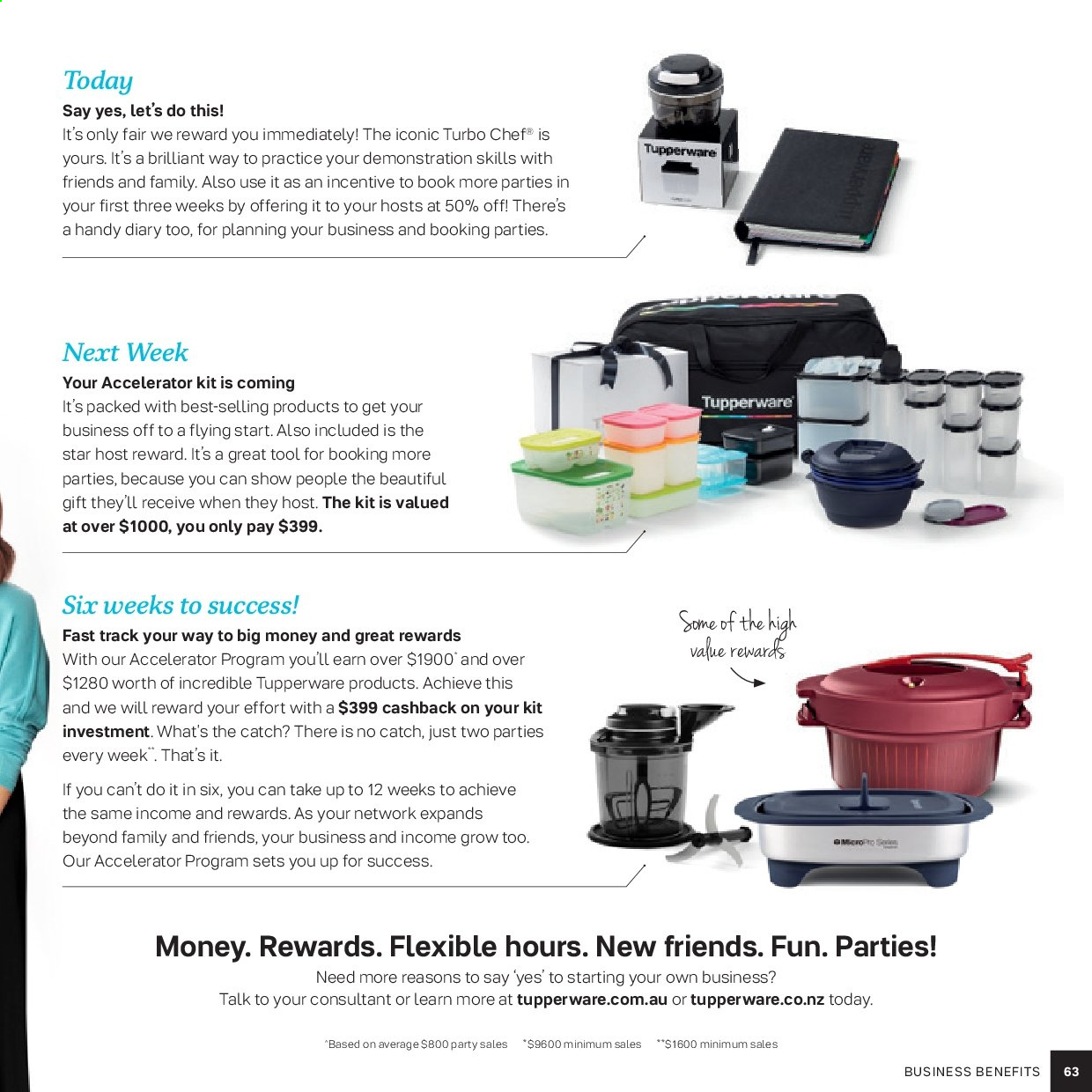 Tupperware catalogue . Page 63.