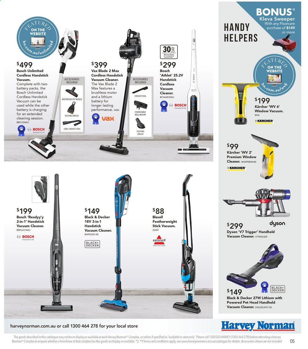 Harvey Norman catalogue  - 6.9.2019 - 22.9.2019. Page 5.