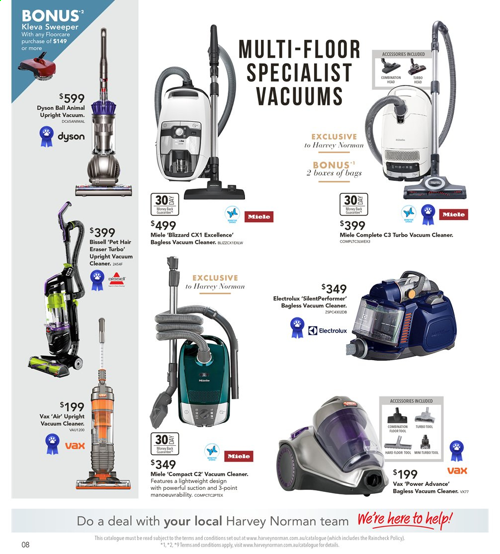 Harvey Norman catalogue  - 6.9.2019 - 22.9.2019. Page 8.