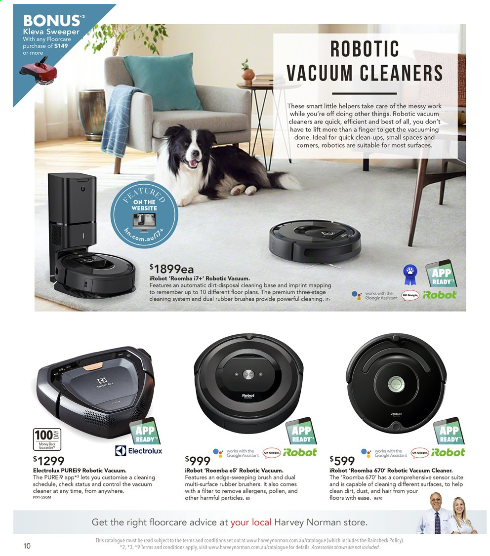 Harvey Norman catalogue  - 6.9.2019 - 22.9.2019. Page 10.
