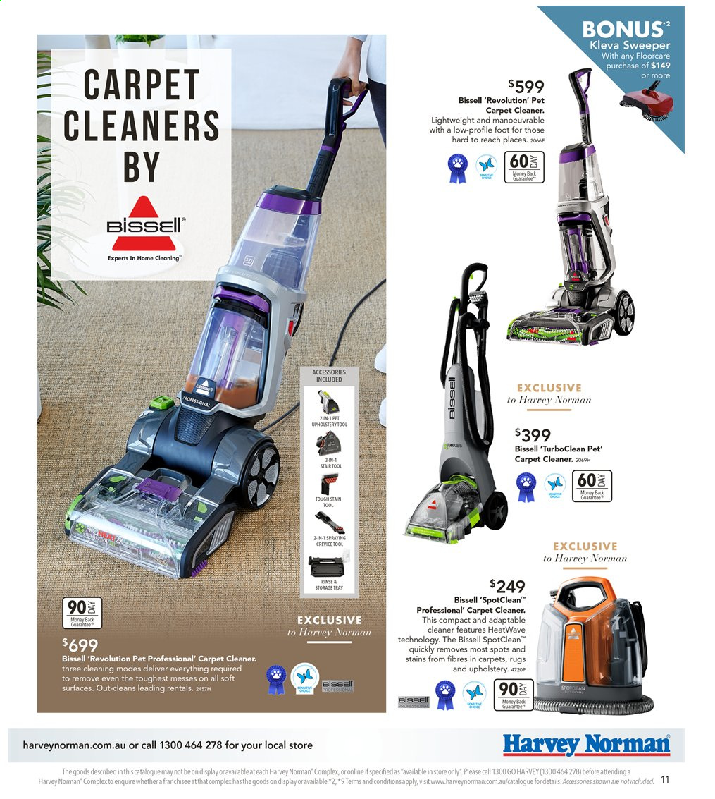 Harvey Norman catalogue  - 6.9.2019 - 22.9.2019. Page 11.