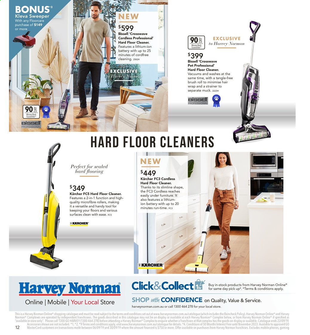 Harvey Norman catalogue  - 6.9.2019 - 22.9.2019. Page 12.