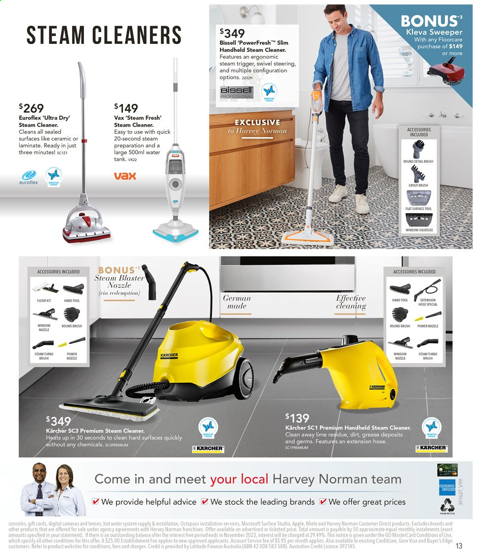 Harvey Norman catalogue  - 6.9.2019 - 22.9.2019. Page 13.