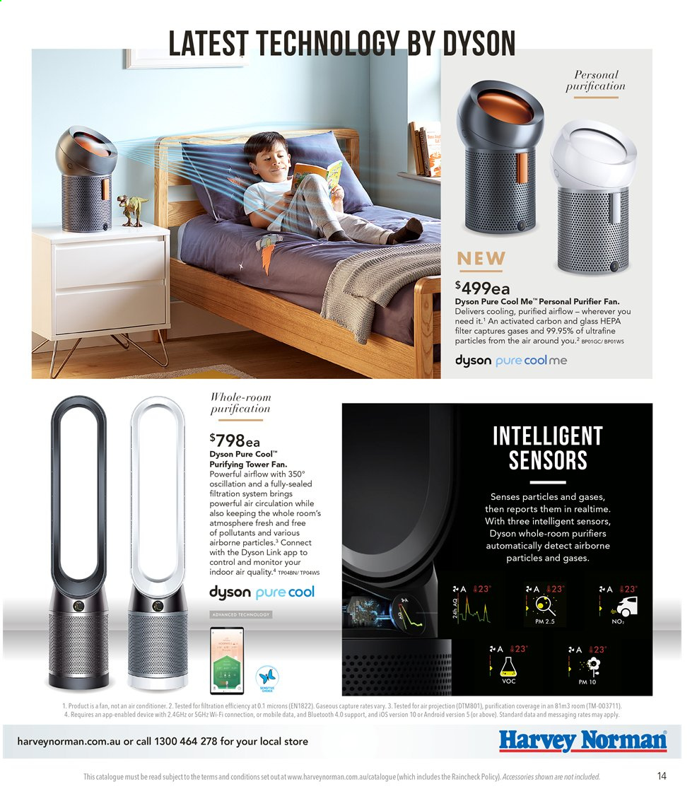 Harvey Norman catalogue  - 6.9.2019 - 22.9.2019. Page 14.