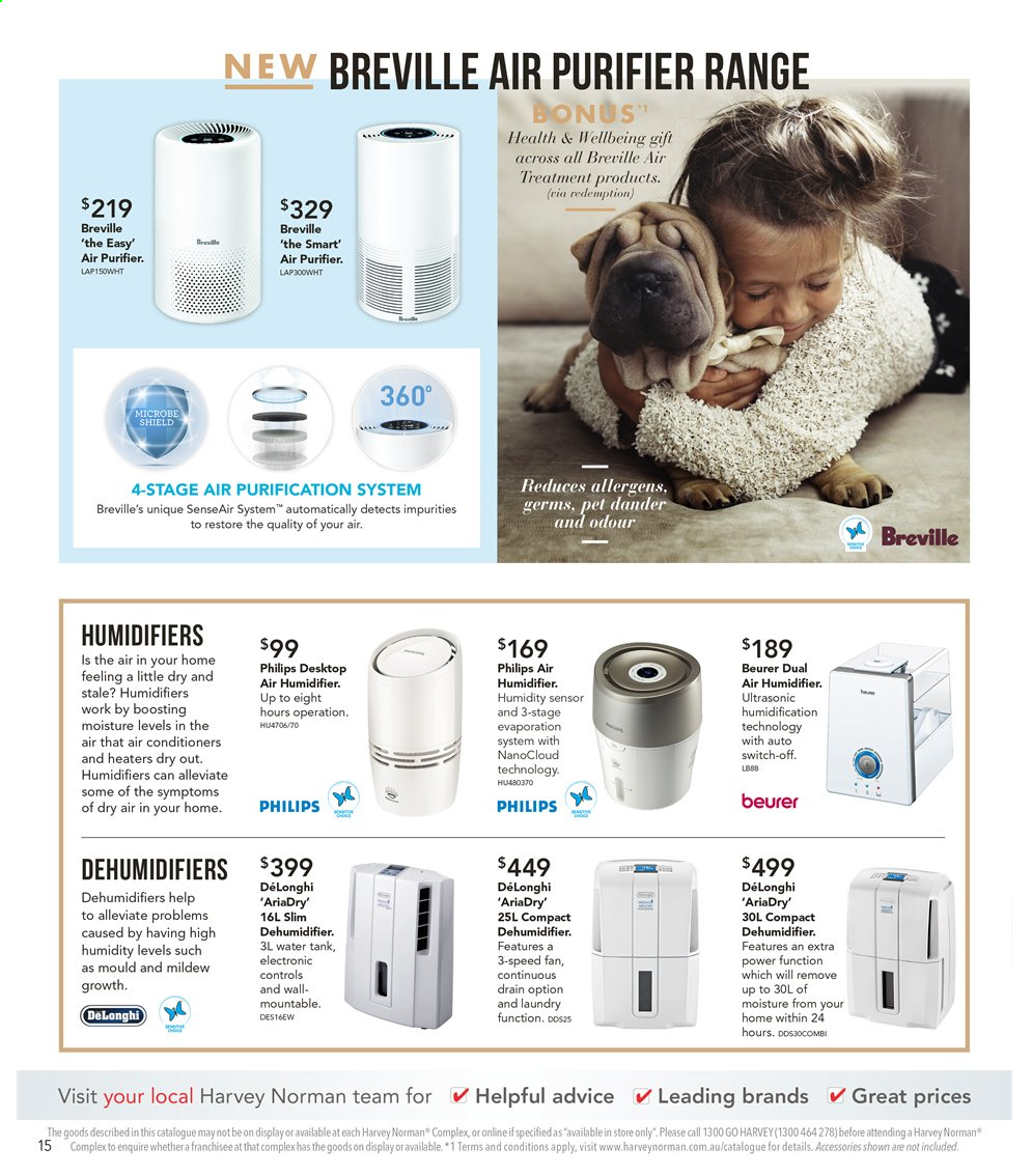 Harvey Norman catalogue  - 6.9.2019 - 22.9.2019. Page 15.