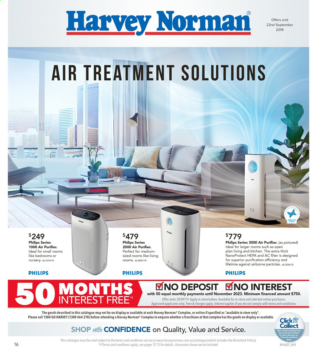 Harvey Norman catalogue  - 6.9.2019 - 22.9.2019. Page 16.