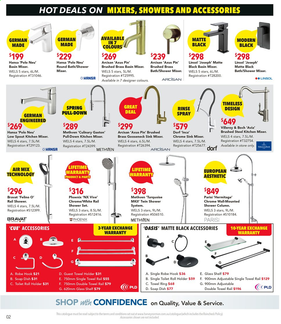 Harvey Norman catalogue  - 9.9.2019 - 29.9.2019. Page 2.