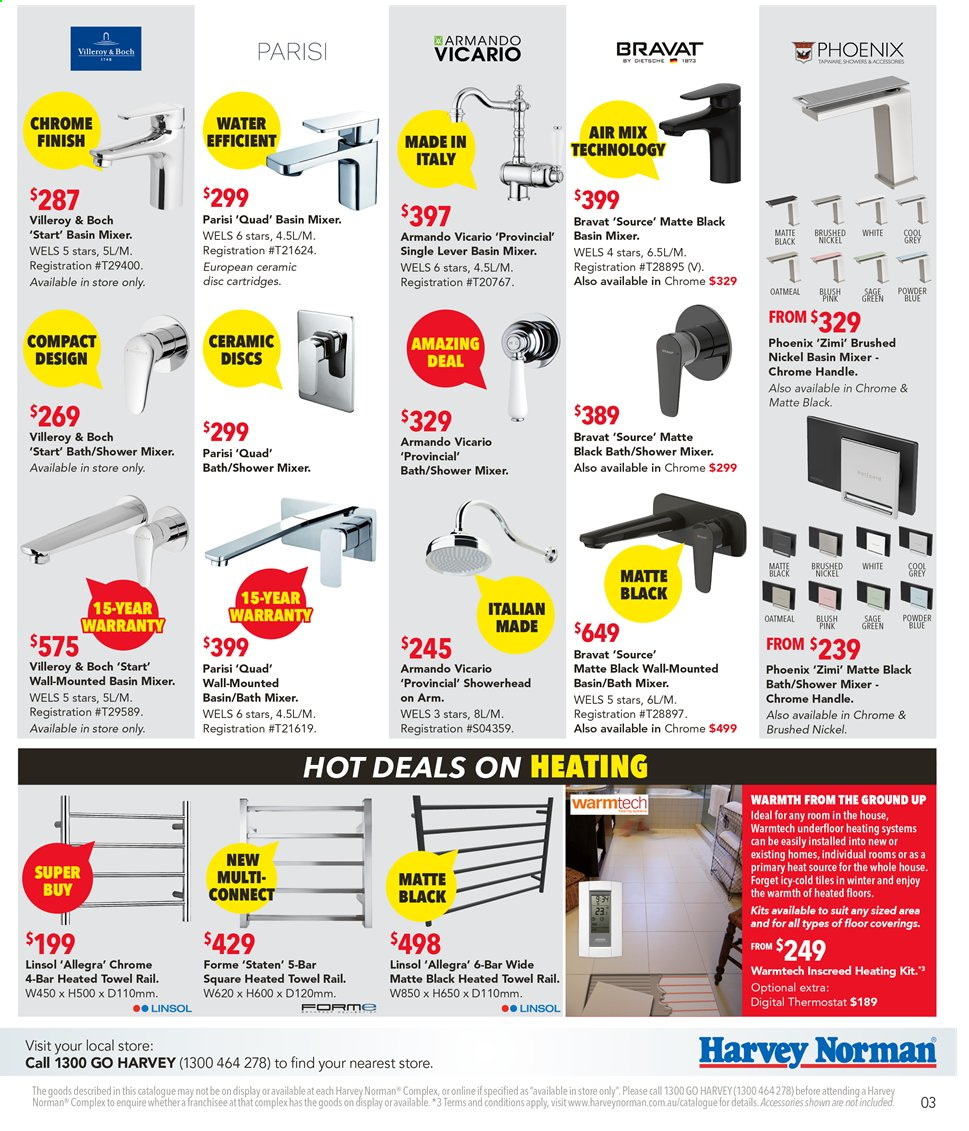 Harvey Norman catalogue  - 9.9.2019 - 29.9.2019. Page 3.