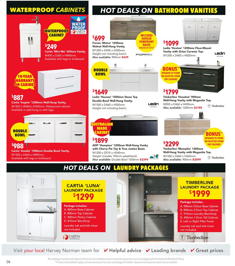 Harvey Norman catalogue  - 9.9.2019 - 29.9.2019. Page 4.