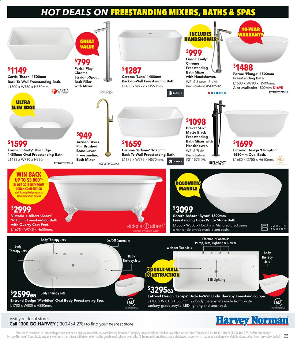 Harvey Norman catalogue  - 9.9.2019 - 29.9.2019. Page 5.