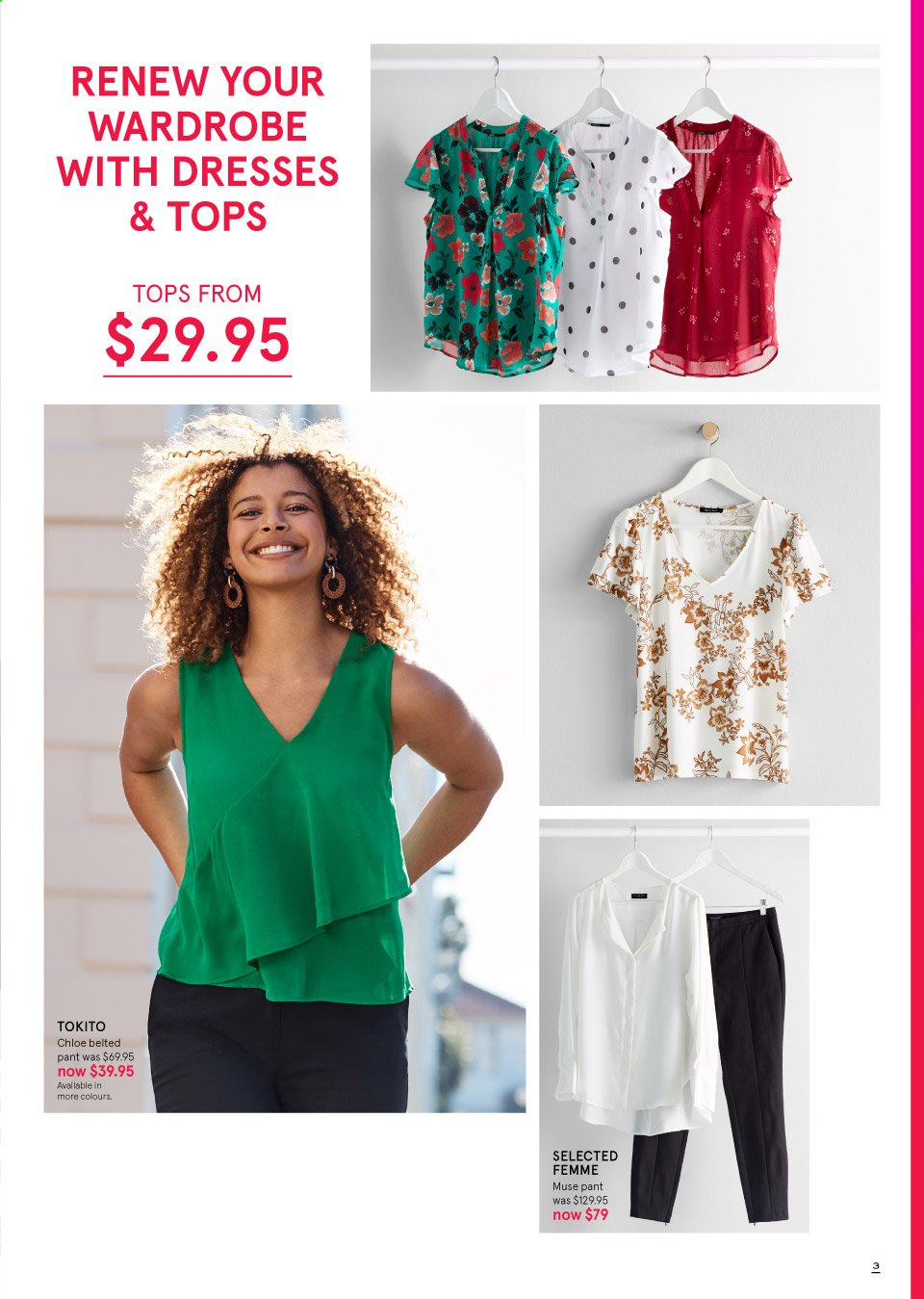 Myer catalogue  - 19.9.2019 - 13.10.2019. Page 3.