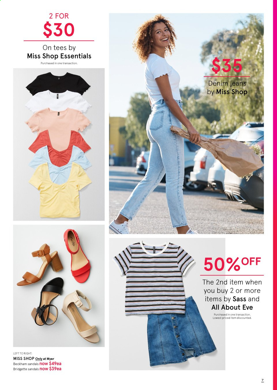 Myer catalogue  - 19.9.2019 - 13.10.2019. Page 7.