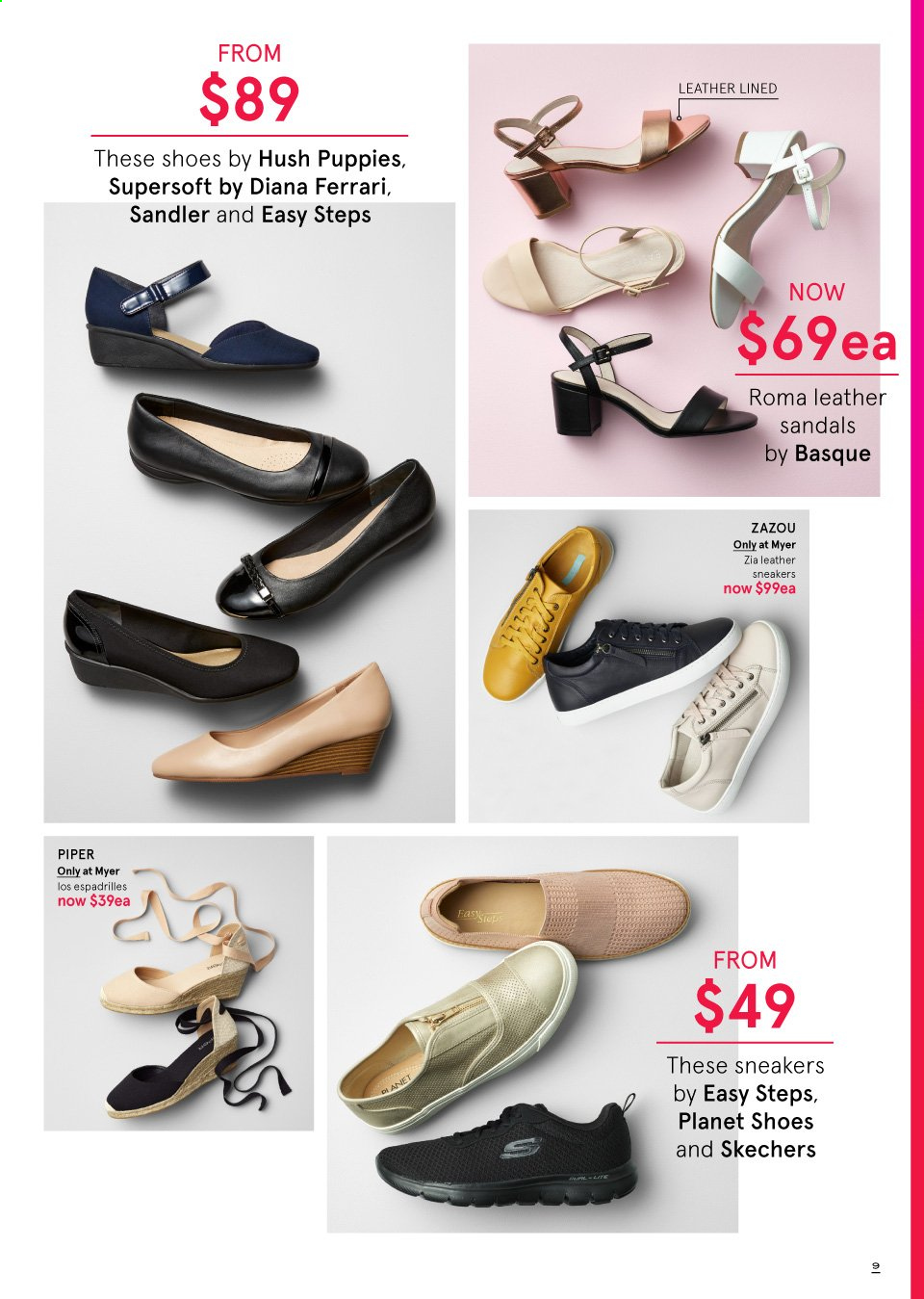 Myer catalogue  - 19.9.2019 - 13.10.2019. Page 9.
