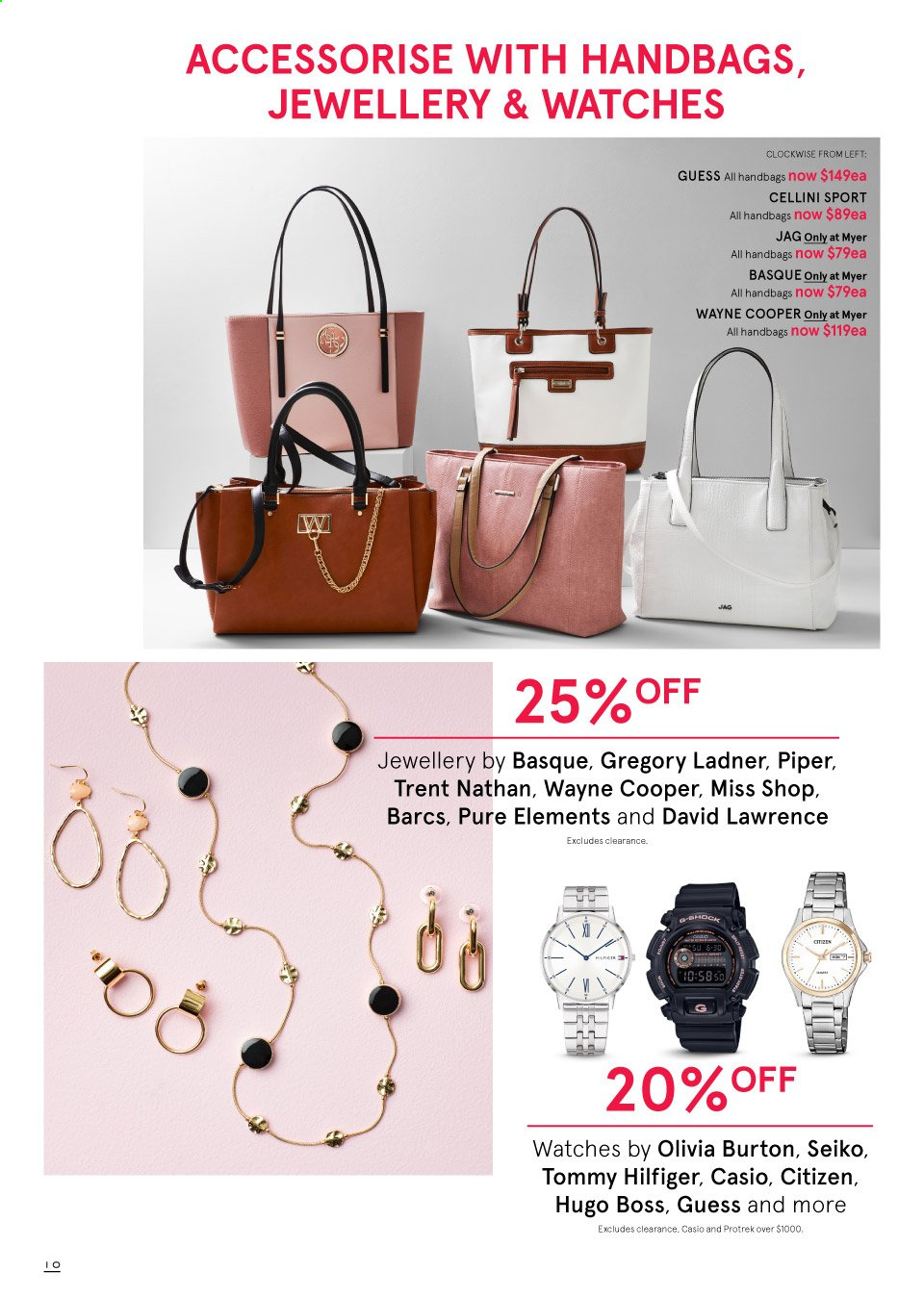 Myer catalogue  - 19.9.2019 - 13.10.2019. Page 10.