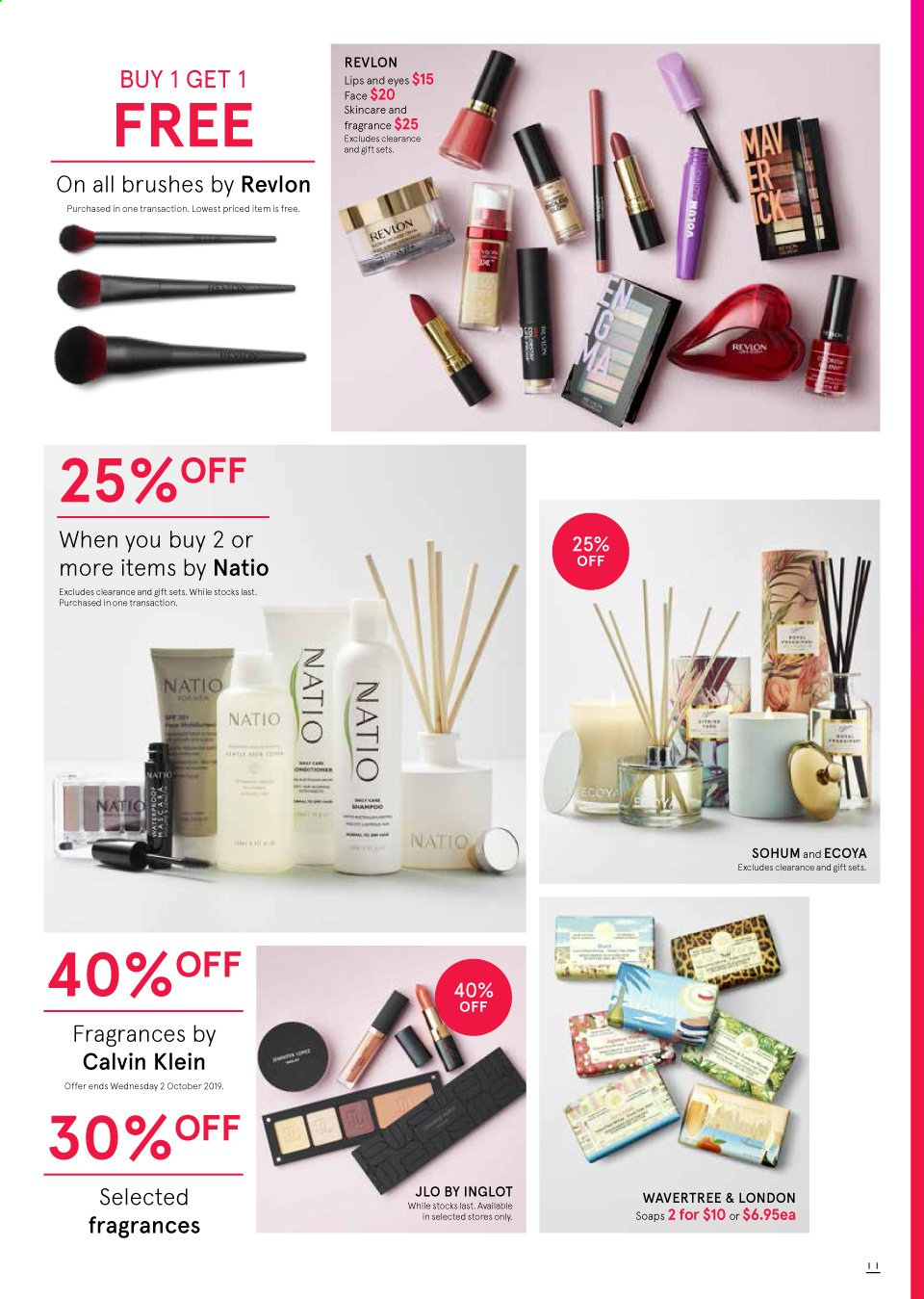Myer catalogue  - 19.9.2019 - 13.10.2019. Page 11.