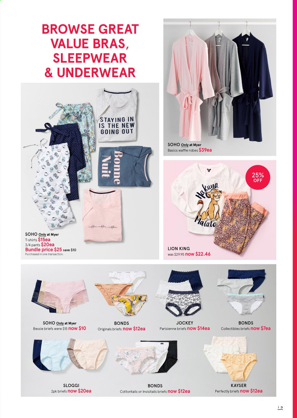 Myer catalogue  - 19.9.2019 - 13.10.2019. Page 13.