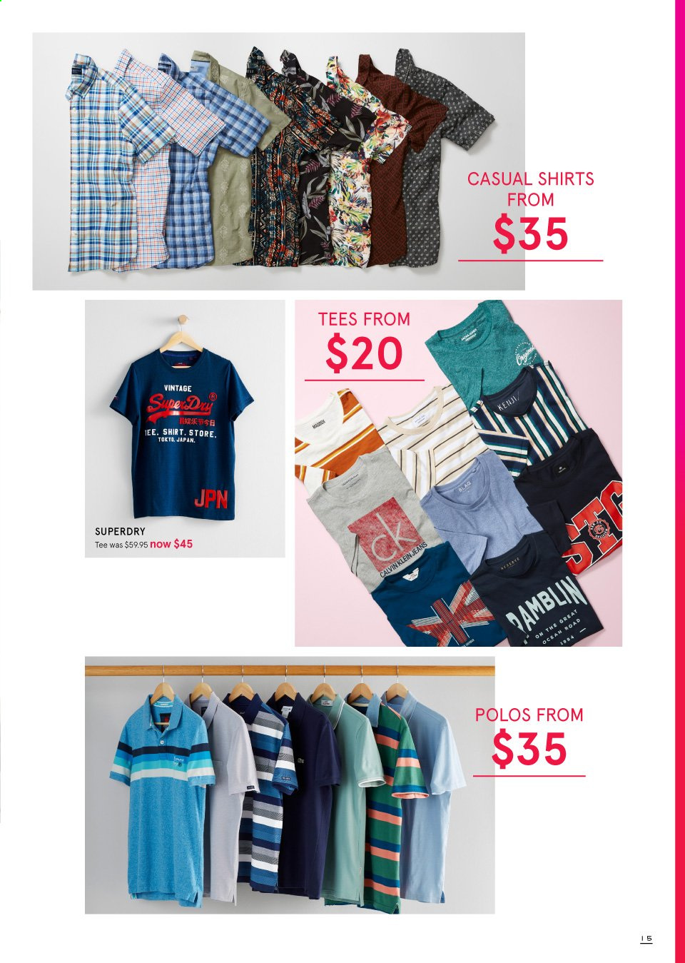 Myer catalogue  - 19.9.2019 - 13.10.2019. Page 15.