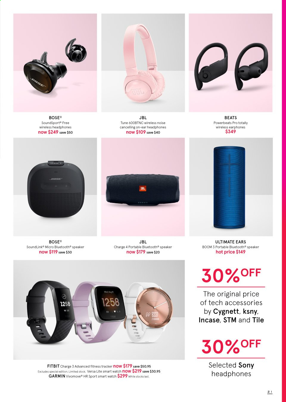 Myer catalogue  - 19.9.2019 - 13.10.2019. Page 21.
