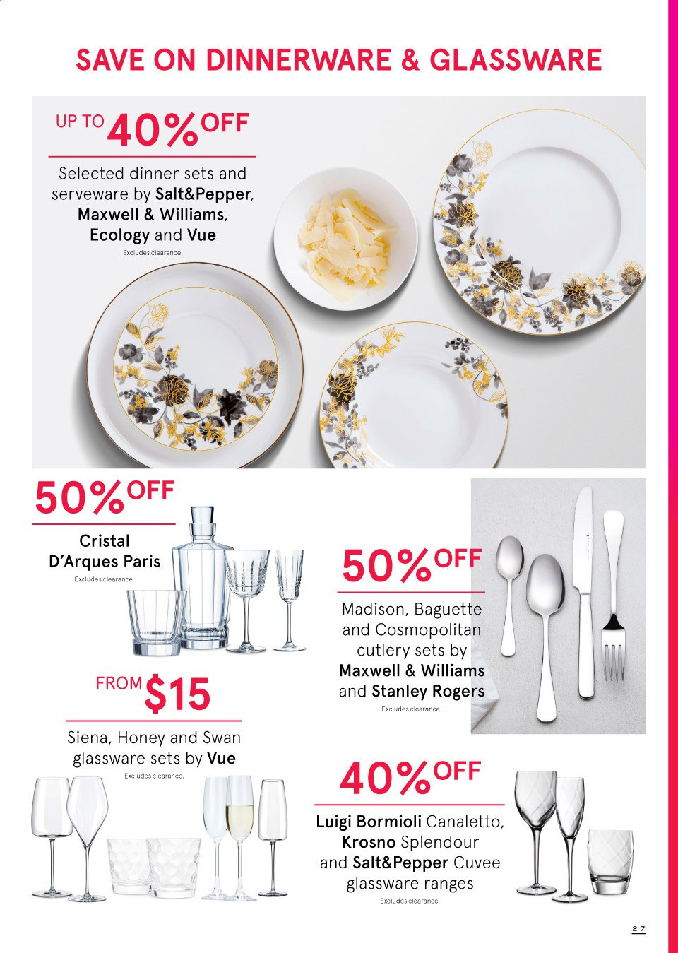 Myer catalogue  - 19.9.2019 - 13.10.2019. Page 27.