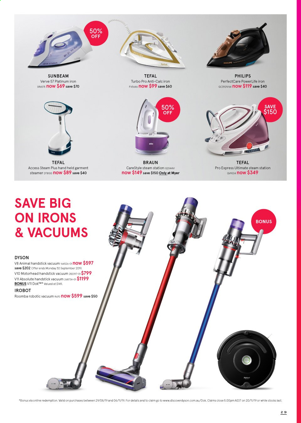 Myer catalogue  - 19.9.2019 - 13.10.2019. Page 29.