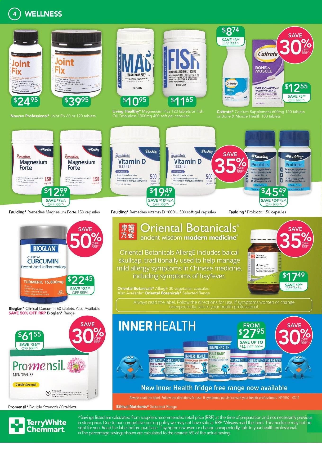 TerryWhite Chemmart catalogue  - 3.10.2019 - 22.10.2019. Page 4.
