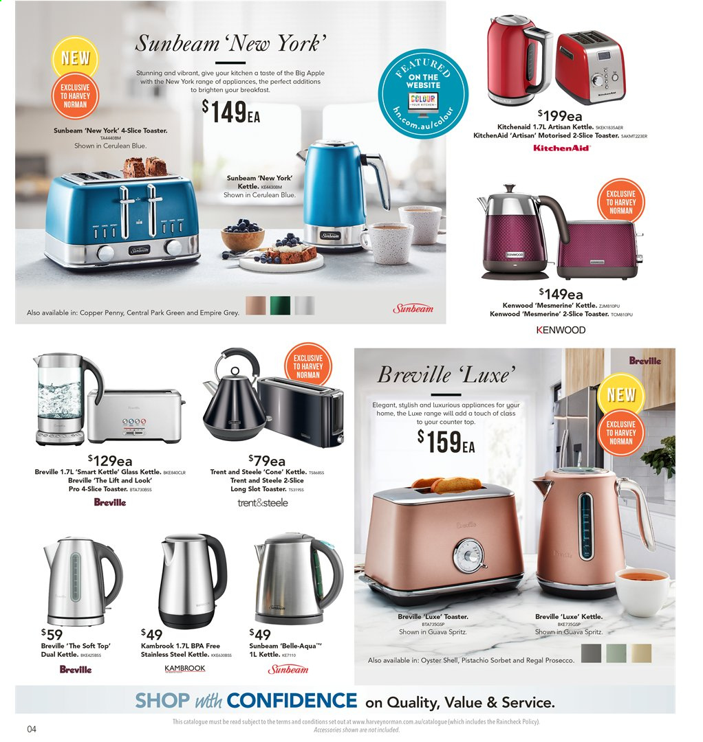 Harvey Norman catalogue  - 8.11.2019 - 25.11.2019. Page 4.