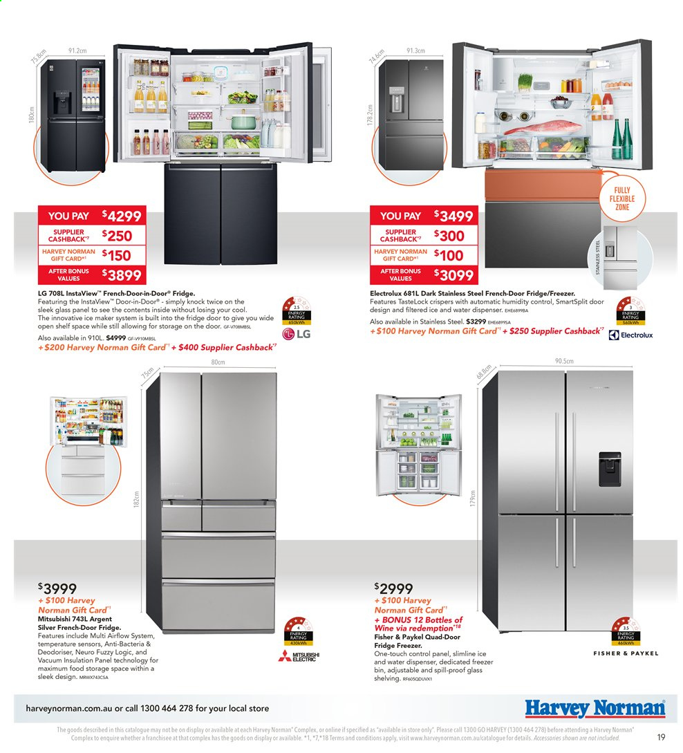 Harvey Norman catalogue  - 8.11.2019 - 25.11.2019. Page 19.