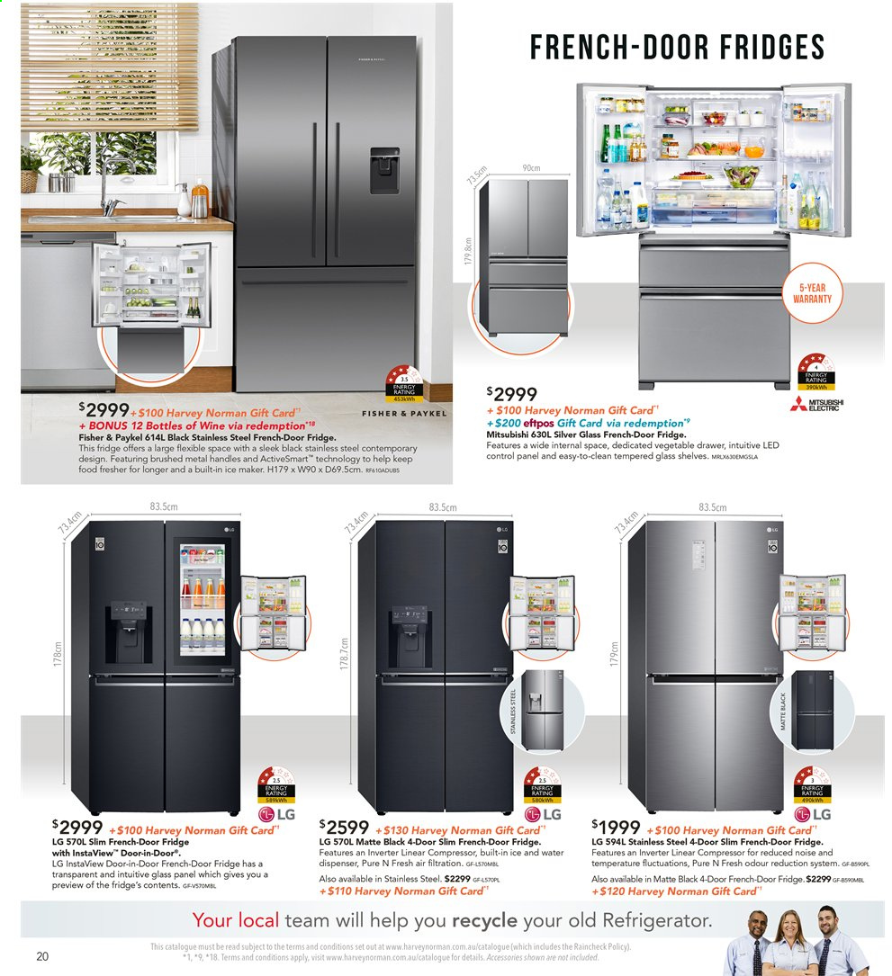 Harvey Norman catalogue  - 8.11.2019 - 25.11.2019. Page 20.