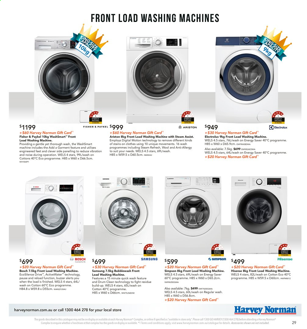 Harvey Norman catalogue  - 8.11.2019 - 25.11.2019. Page 29.