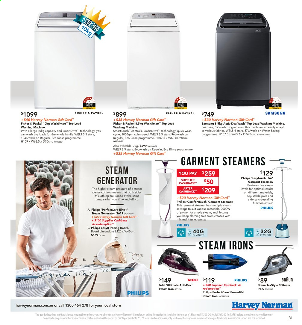 Harvey Norman catalogue  - 8.11.2019 - 25.11.2019. Page 31.