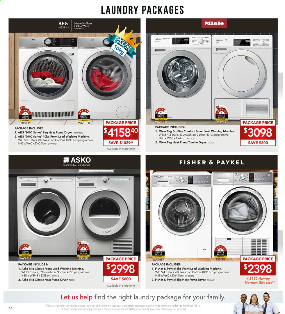 Harvey Norman catalogue  - 8.11.2019 - 25.11.2019. Page 32.