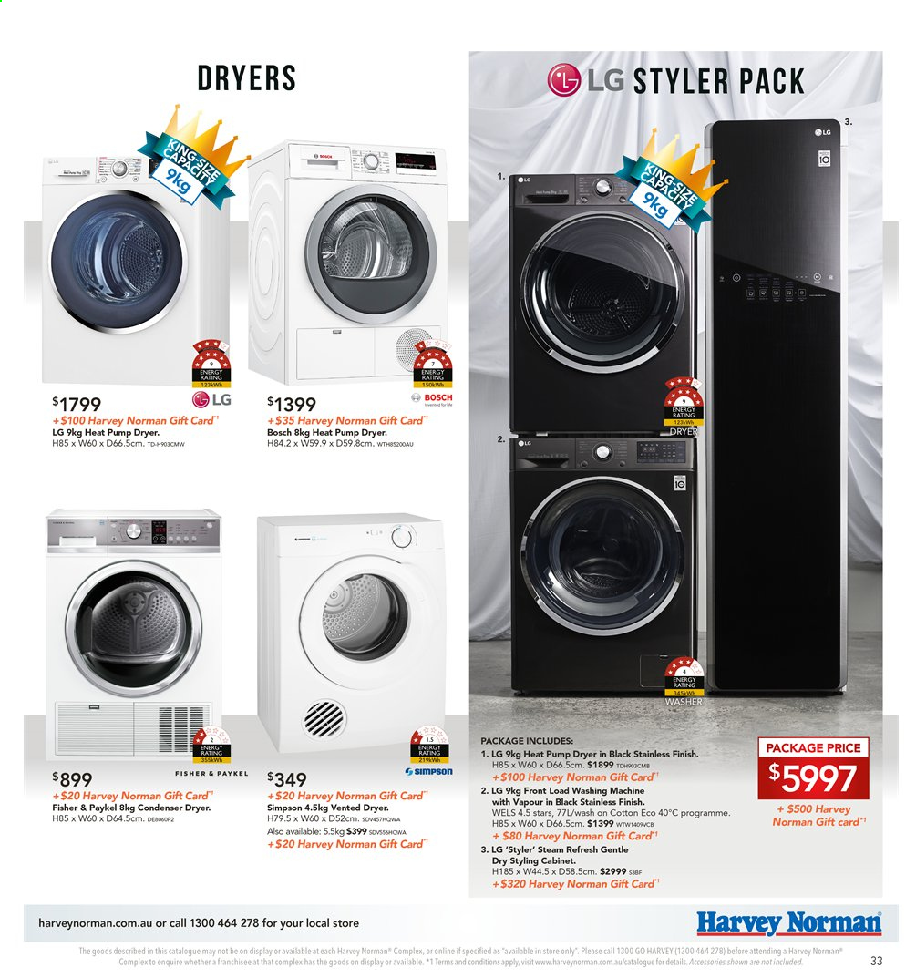 Harvey Norman catalogue  - 8.11.2019 - 25.11.2019. Page 33.