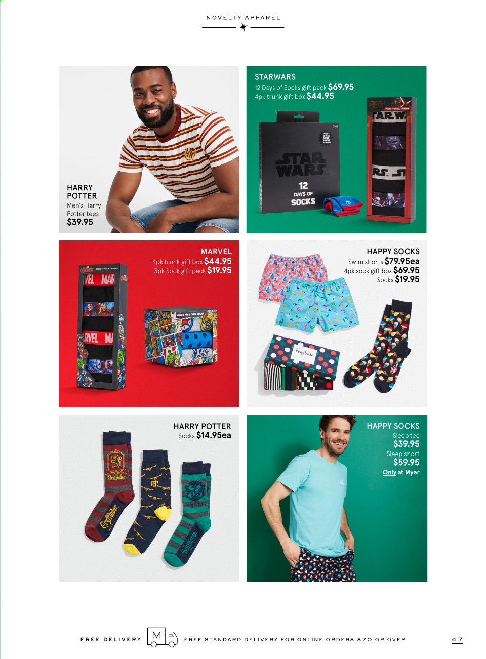 Myer catalogue  - 9.11.2019 - 24.12.2019. Page 47.