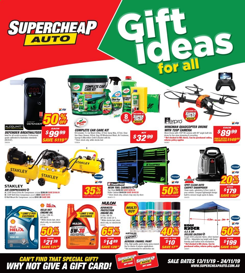 Supercheap Auto catalogue  - 13.11.2019 - 24.11.2019. Page 1.