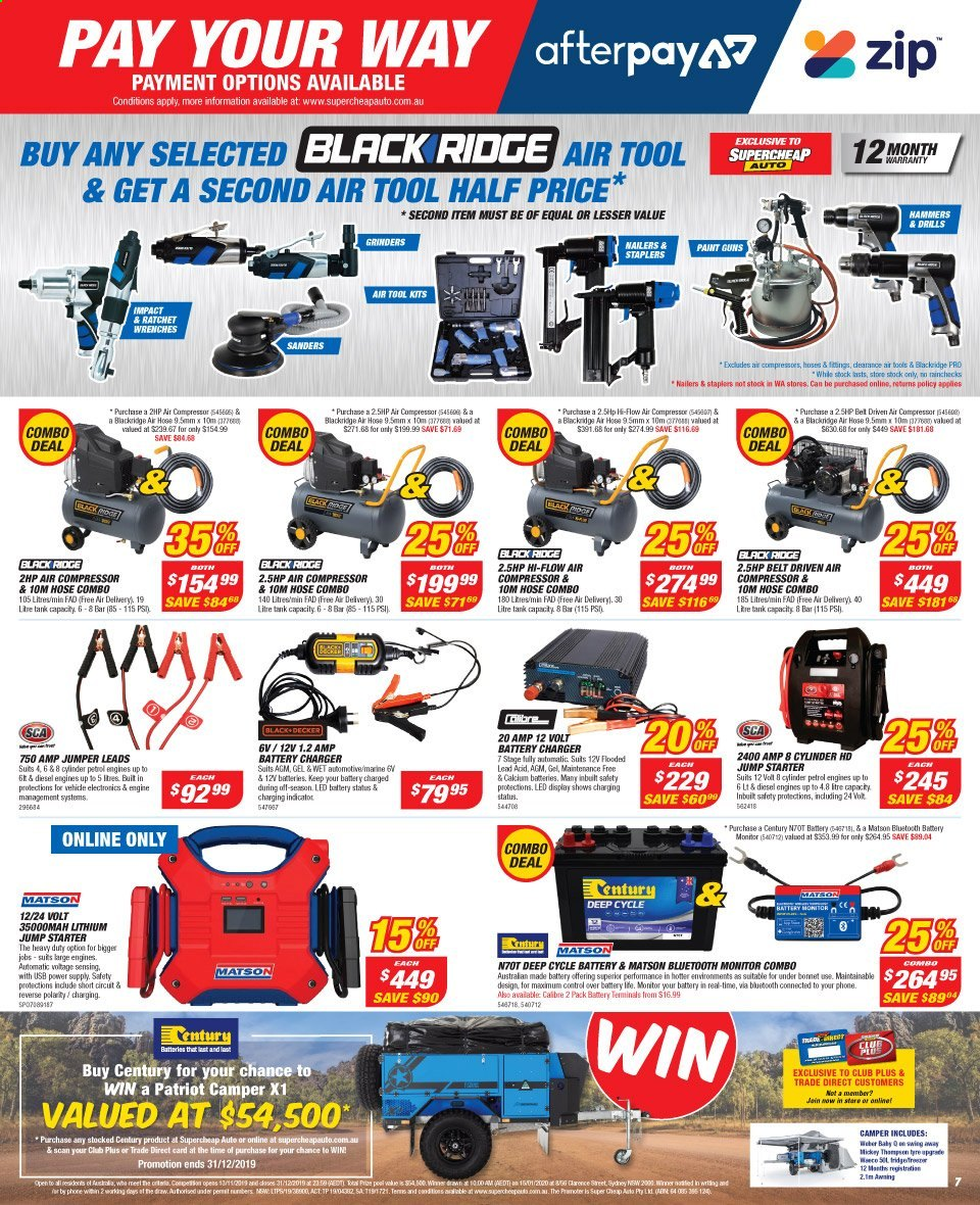 Supercheap Auto catalogue  - 13.11.2019 - 24.11.2019. Page 7.